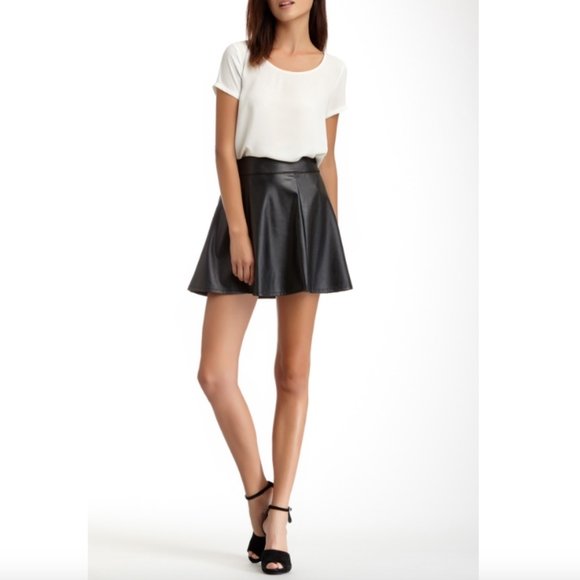5317f85de1 Socialite Skirts | Black Faux Vegan Leather Mini Skirt | Poshmark